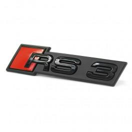 "Logo Audi black calandre ""RS3"""